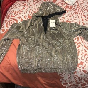 Silver sequin pullover